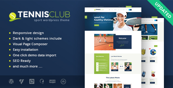 10 Impressive Fitness & Sport WordPress Themes With Flat Design