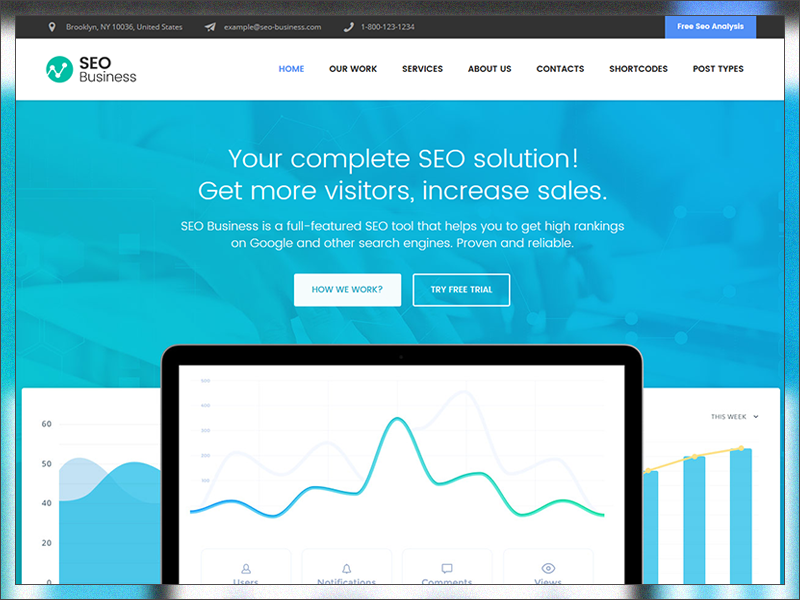 10 Flat SEO & Marketing WordPress Themes