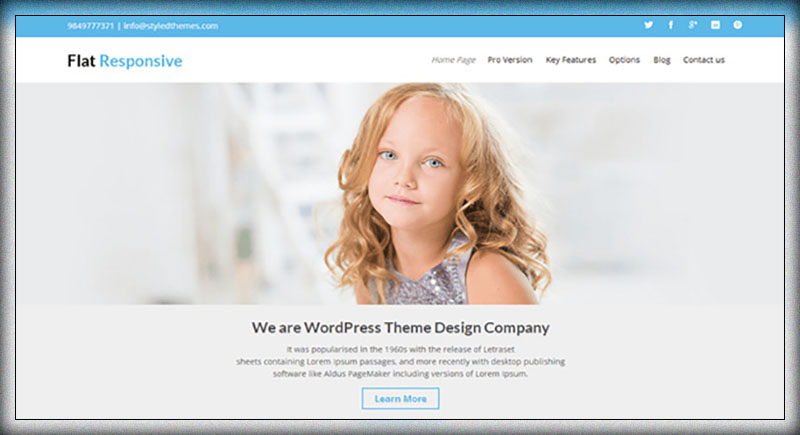 Flat Responsive - Multipurpose WordPress Theme